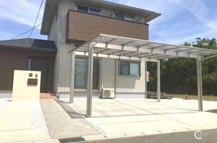 【鈴鹿市】シンプルを極めたツートンカラーのオープン外構