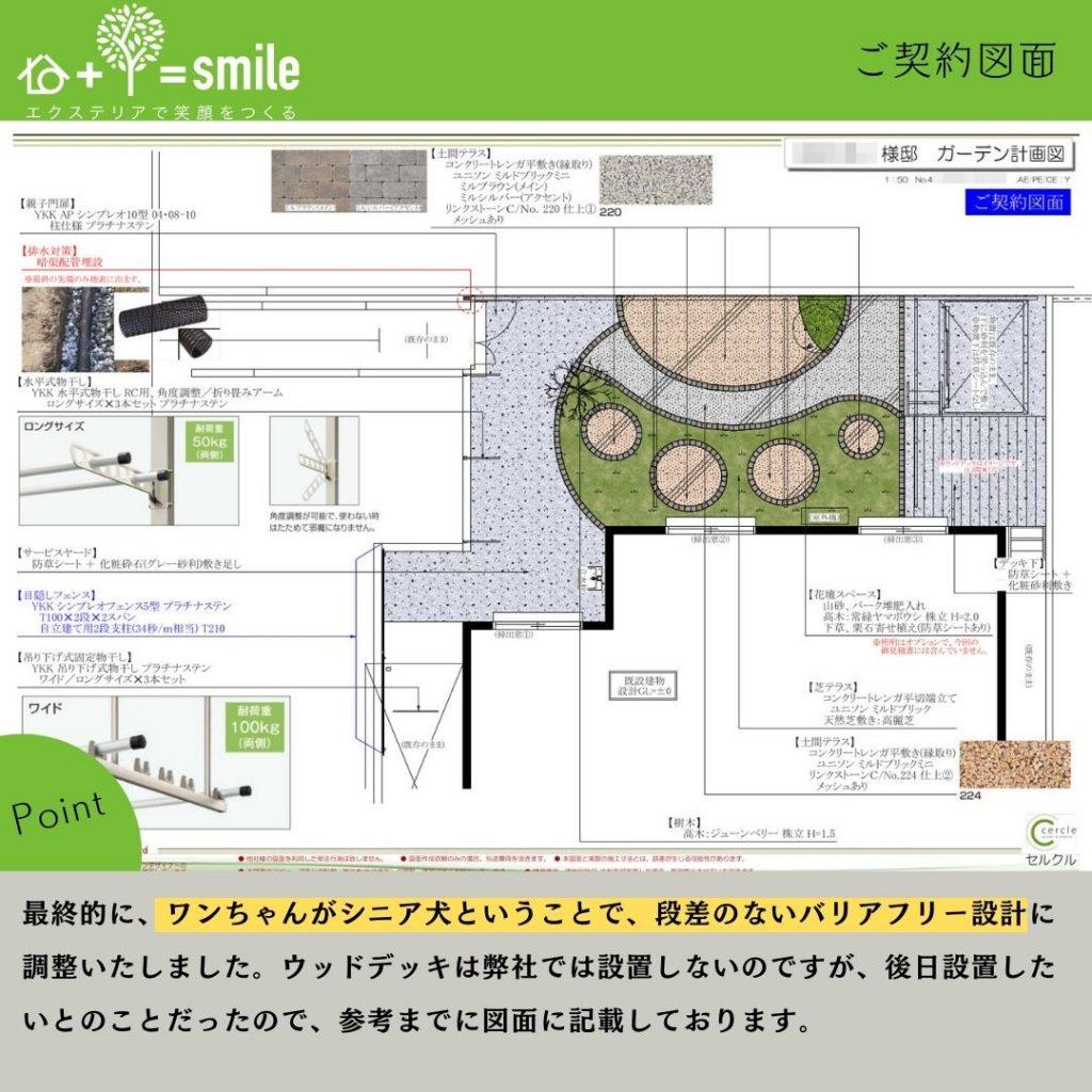 【鈴鹿市】契約時のシニア犬用のドッグラン図面
